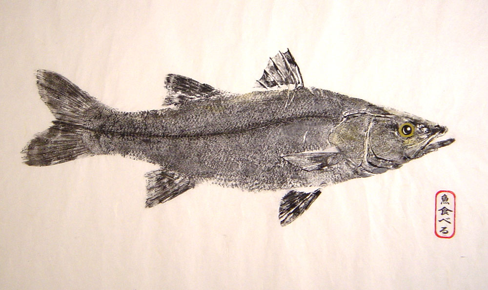 gyotaku by brett swindell original fish prints for sale